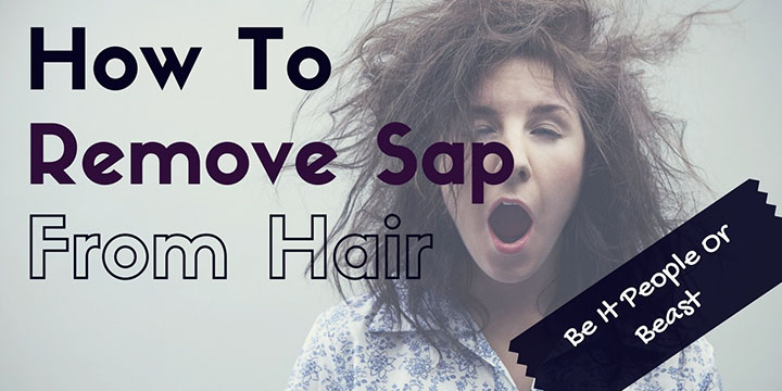 How To Remove Sap From Hair